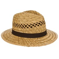 John Lewis Open Weave Seagrass Fedora Hat Natural