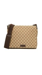 Wgaca Gucci Small Messenger Bag Previously Owned Brown