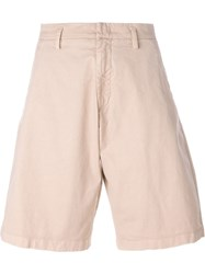 No21 Knee Denim Shorts Nude And Neutrals