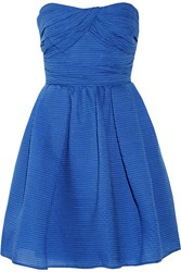 Carven Cotton Blend Organza Mini Dress Blue