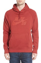 Nike Men's Sb 'Icon Dots' Graphic Hoodie Red