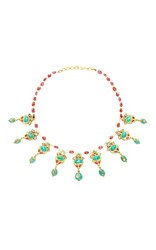 Amrapali 18K Gold Diamonds Turquoise Tourmaline And Pearls Stationed Queen Necklace Multi