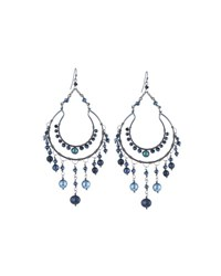 Nakamol Gunmetal Beaded Chandelier Earrings Montana Mix