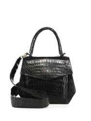 Nancy Gonzalez Crocodile Structured Satchel Black