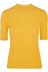 Maison Martin Margiela Ribbed Wool Sweater Yellow