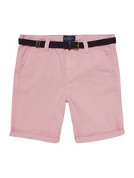 Criminal Men's Travis Cotton Chino Shorts Washed Pink