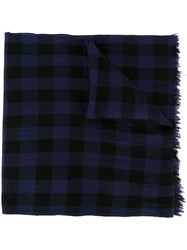 Woolrich Checked Scarf Pink Purple