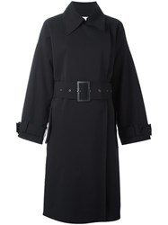 Weili Zheng Belted Trench Coat Black