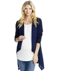 Jessica Simpson Maternity Open Front Cardigan Navy