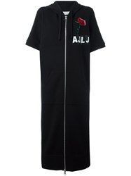 Au Jour Le Jour Zipped Sweatshirt Dress Black