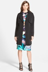 Finders Keepers 'Timewaster' Trench Coat Juniors Black