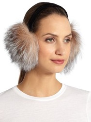 Surell Fox Fur Earmuffs Natural