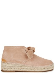 Rag And Bone Gena Pink Suede Espadrille Boots Peach