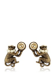 Gucci Antique Colored Monkey Earrings