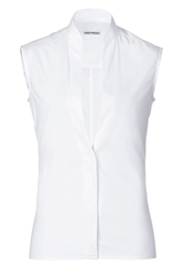 Paco Rabanne Cotton Sleeveless Shirt With Deep V Neckline