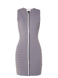 Christopher Kane Zip Through Bandage Mini Dress Grey