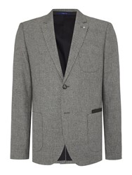 Peter Werth Noise Blazer Patch Pocket Blazer Grey