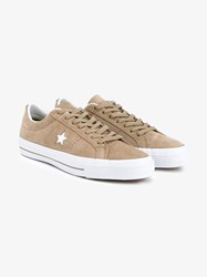 Converse One Star Suede Sneakers Sand White Denim