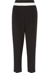 Milly Two Tone Cady Tapered Pants Black