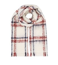 Maje Enee Tartan Scarf Female Cream