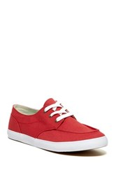 Reef Girls Deck Hand 3 Lace Up Sneaker Red