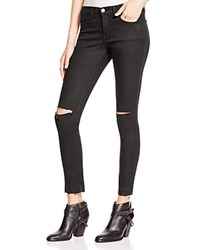 Flying Monkey Ripped Knee Skinny Jeans In Black