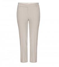 Rick Owens Crepe Cropped Trousers Grey