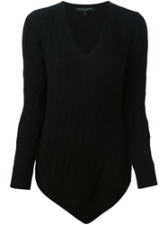 Ralph Lauren Black Label Ralph Lauren Black Cable Knit Asymmetric Sweater