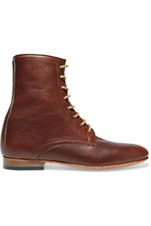 Dieppa Restrepo Lace Up Leather Ankle Boots Brown