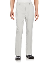 Saks Fifth Avenue Striped Seersucker Trousers Grey