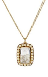 Renee Lewis Women's Shake Pendant Necklace White