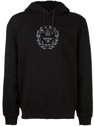 Dolce And Gabbana Bee Crown Embroidered Hoodie Black