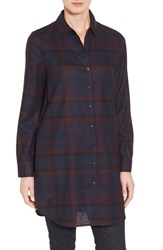 Nordstrom Women's Collection Plaid Wool Flannel Tunic
