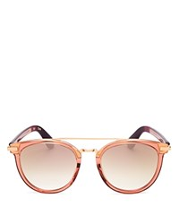 Toms Harlan Mirrored Wayfarer Sunglasses 50Mm Sherry Crystal