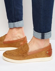 Original Penguin Slip On Plimsolls Tan