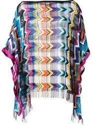 Missoni Open Panel Chevron Top Multicolour