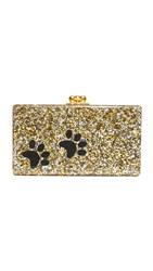 Edie Parker Jean Paws Clutch Gold Silver Confetti