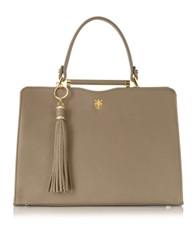 Buti Taupe Leather Satchel Bag