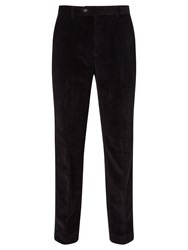 John Lewis Laundered Corduroy Trousers Navy
