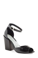 Rachel Comey Women's 'Coppa' Ankle Strap Sandal Black Satinado Leather