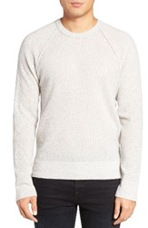 James Perse Men's Thermal Cashmere Sweater Pearl