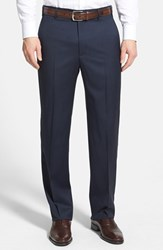 Men's Zanella 'Todd' Flat Front Trousers Blue