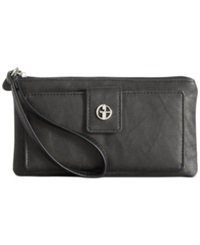 Giani Bernini Sandalwood Leather Medium Grab And Go Wallet Black