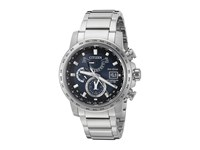 Citizen At9070 51L Eco Drive World Time A T Silver Tone Watches Black