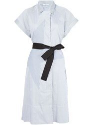 Tome Belted Coat Dress White