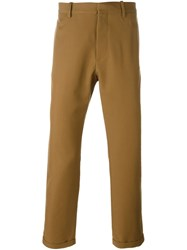 Marni Cropped Trousers Brown