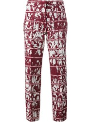 Jour Ne Film Print Trousers Red