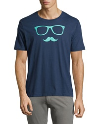 Penguin Sunstache Graphic Tee Dress Blues