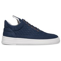 Filling Pieces Navy Low Top Quilted Diamond Sneakers Blue