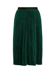 Vanessa Bruno Flo Plisse Knit Midi Skirt Dark Green